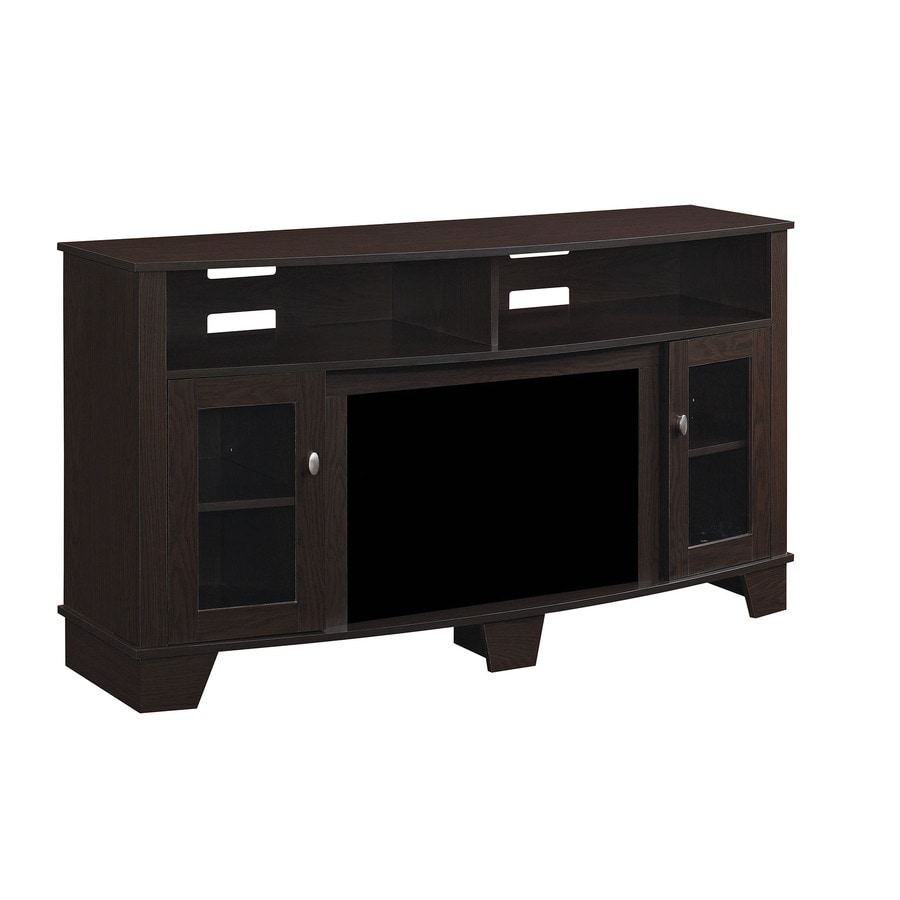 shop classicflame lasalle oak espresso fireplace tv stand