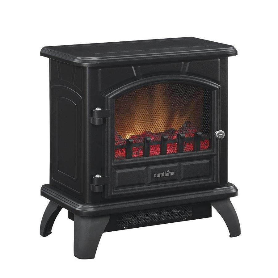 Duraflame 17-in W 4600-BTU Black Metal Flat Wall Fan-Forced Electric Stove with Thermostat