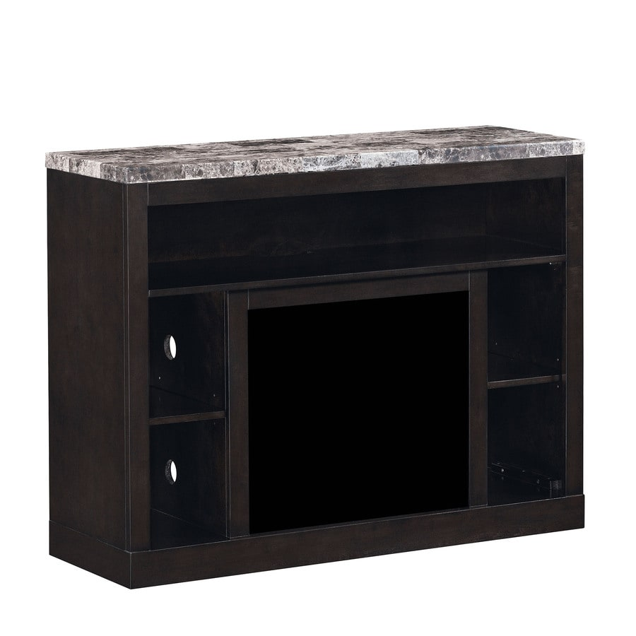 shop classicflame coffee black fireplace tv stand at