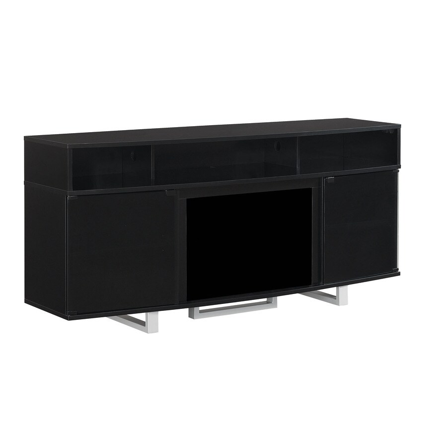 ClassicFlame Enterprise High Gloss Black Rectangular Fireplace TV Stand