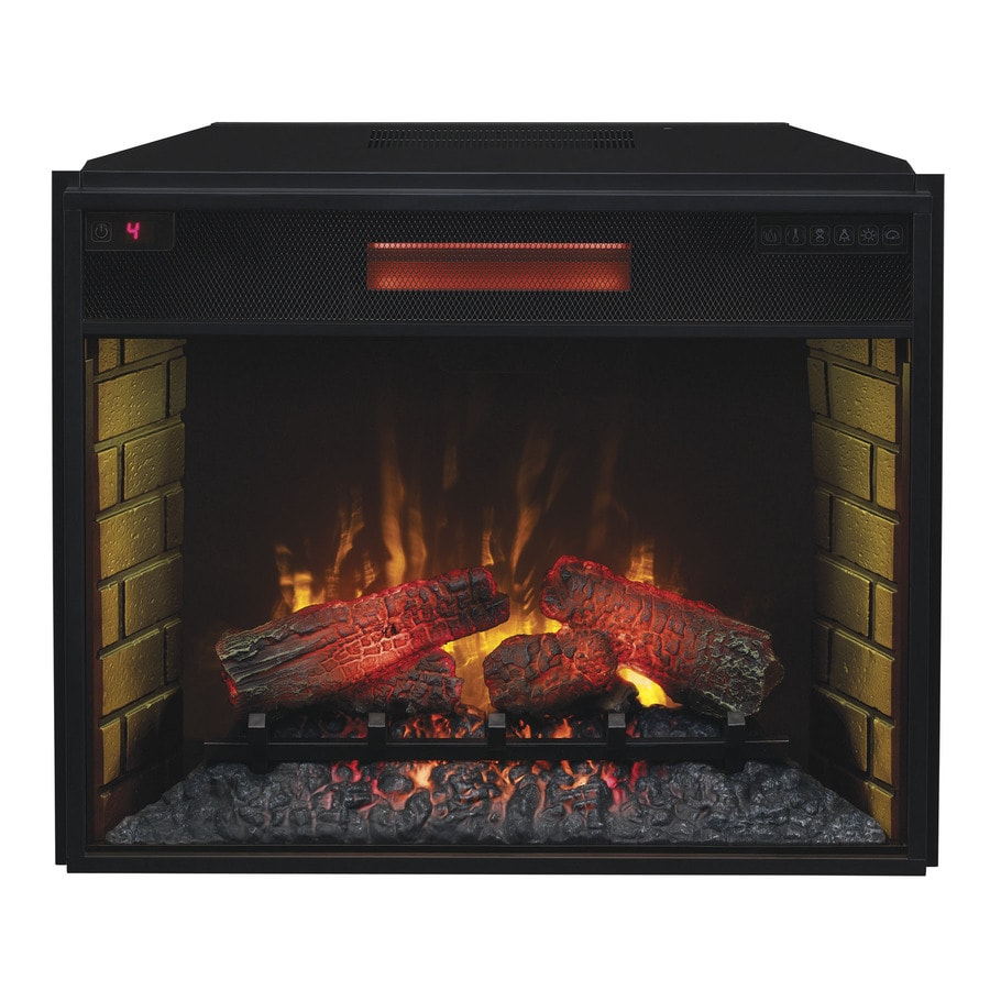 Shop 29.13-in Black Electric Fireplace Insert at Lowes.com
