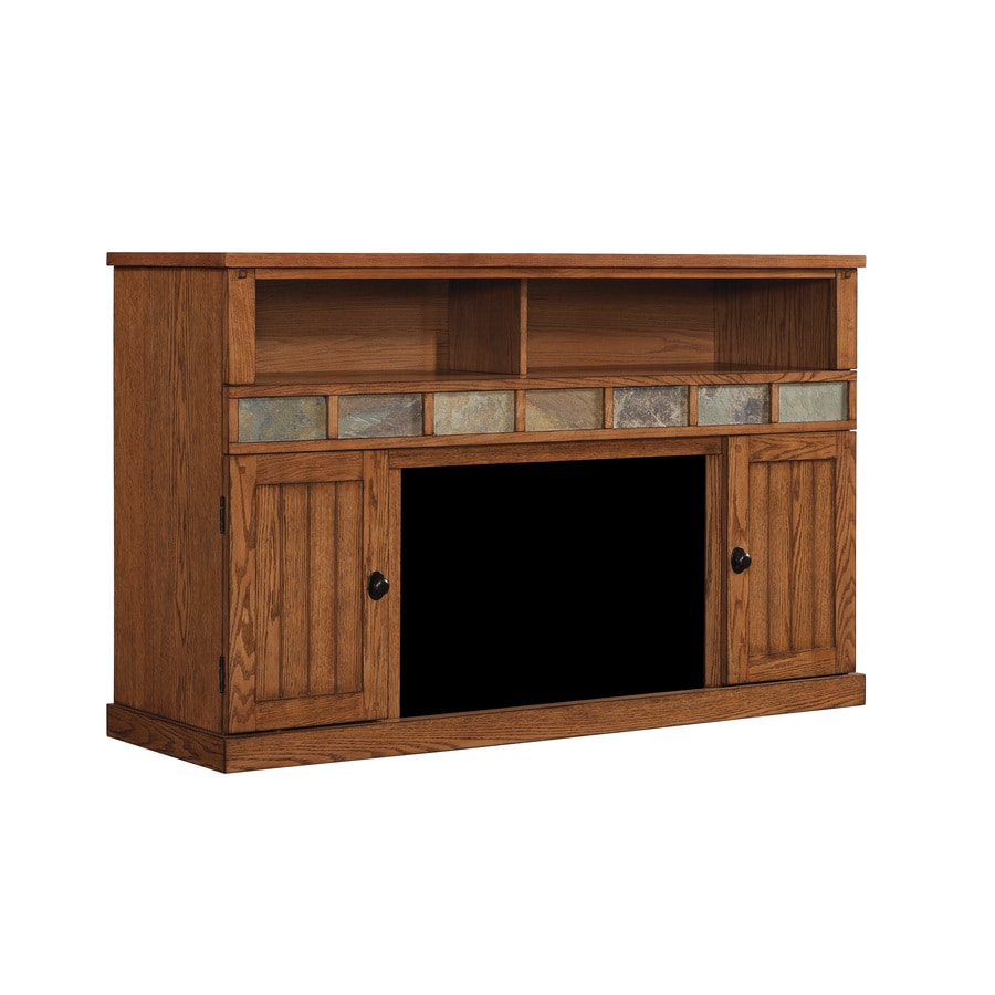 ClassicFlame Margate Caramel Oak Rectangular Fireplace TV Stand