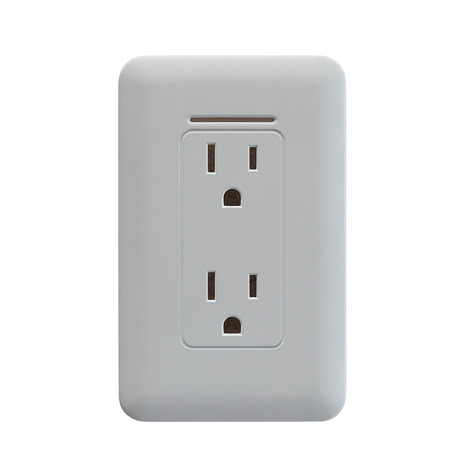 Shop Safer Socket 15-Amp 120-Volt Wireless White Indoor Duplex Wall Outlet at Lowes.com
