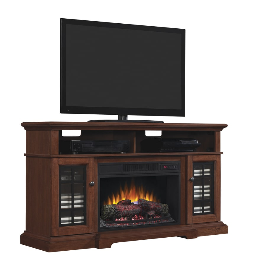 00-BTU Cherry Wood Fan-Forced Electric Fireplace with Thermostat and Remote Control at Lowes.com