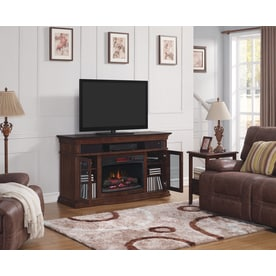 Style Selections 59 In W 5200 Btu Walnut Wood And Wood