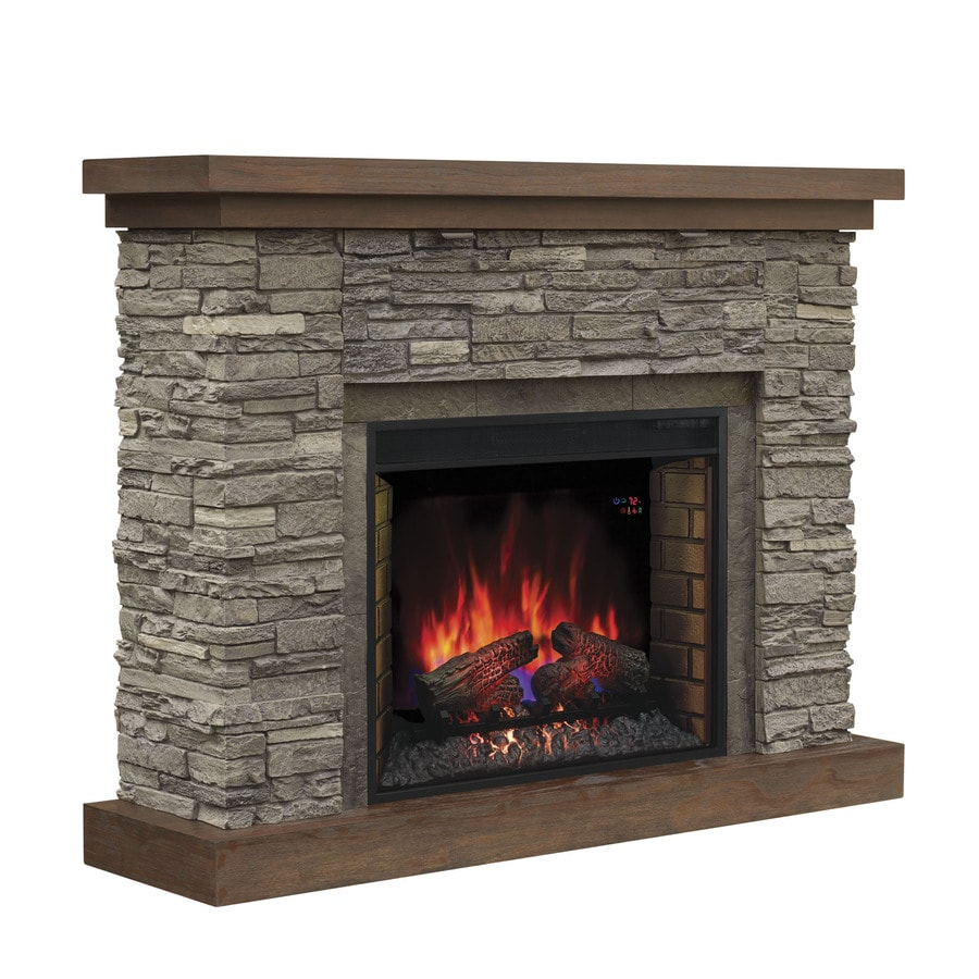 200-BTU Cappuccino Brown Ash Wood Infrared Quartz Electric Fireplace with Thermostat and Remote Control at Lowes.com