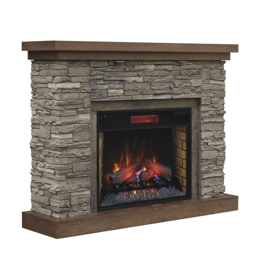 Shop chimney free 54-in w 5200-btu brown ash wood veneer infrared quartz electric fireplace with thermostat and remote in the electric fireplaces section of Lowes.com
