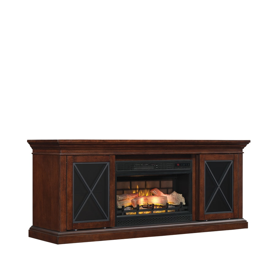 200-BTU Cherry Wood Veneer Infrared Quartz Electric Fireplace Media Mantel with Thermostat and Remote at Lowes.com