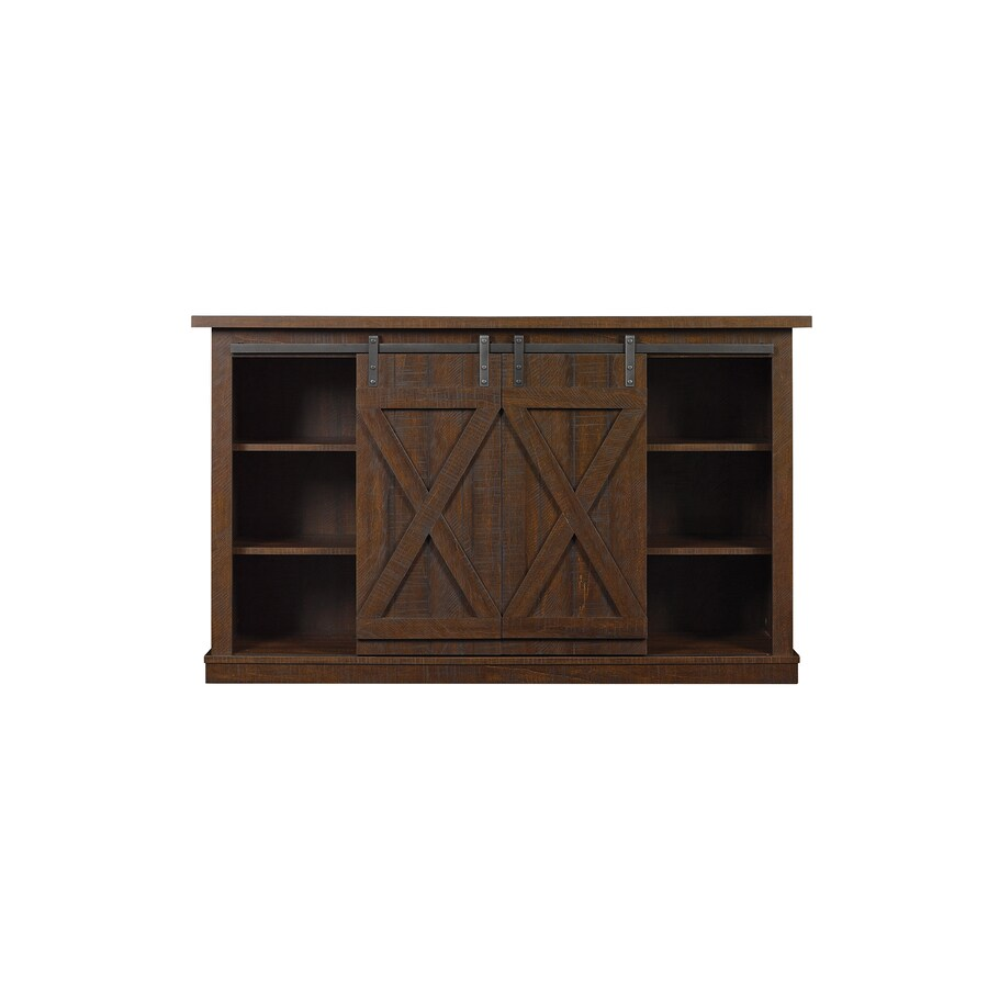 Bell O Cottonwood Saw Cut Espresso Universal Tv Stand