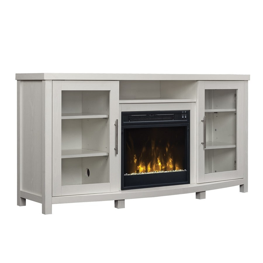 shop classicflame rossville white fireplace tv stand at