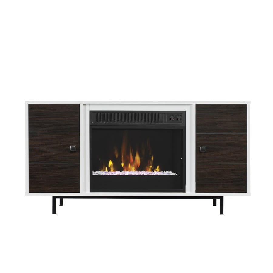 shop classicflame ridgeville high gloss white fireplace tv stand