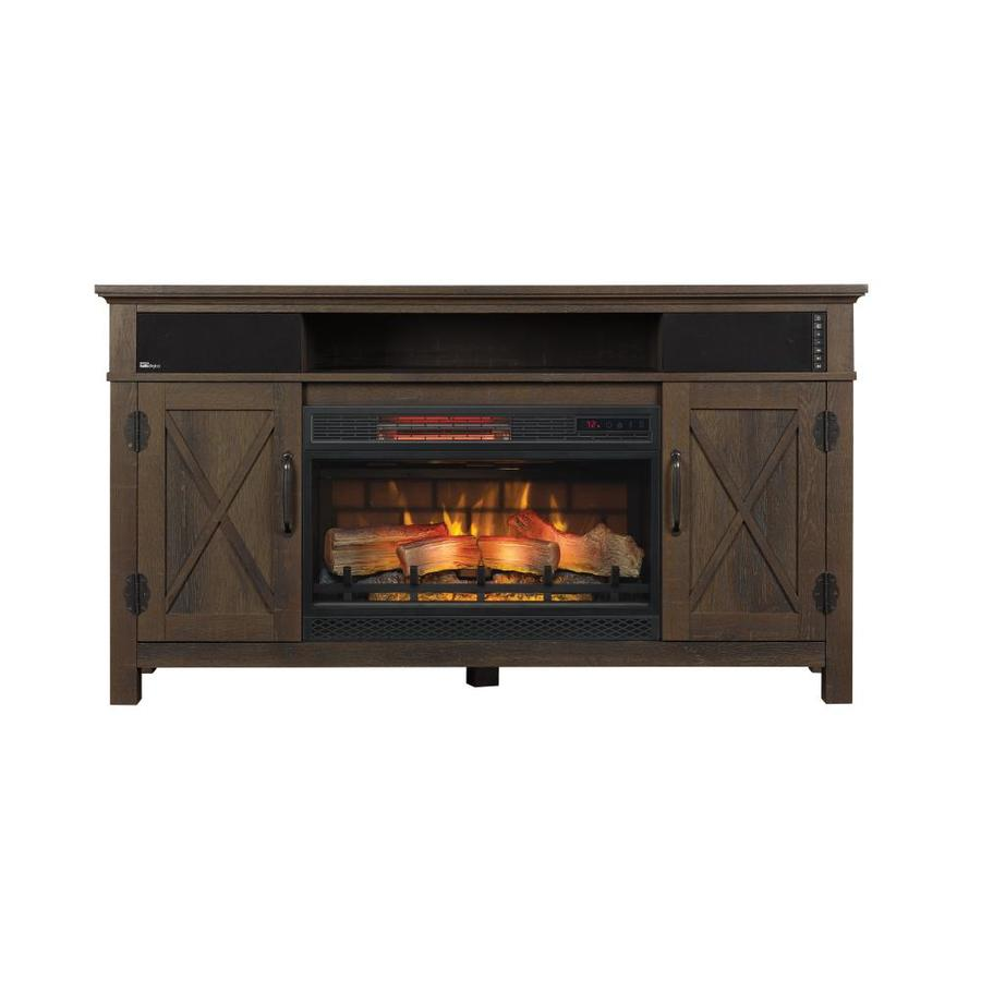 Shop Chimney Free 56 In W 5200 Btu Midnight Cherry Wood