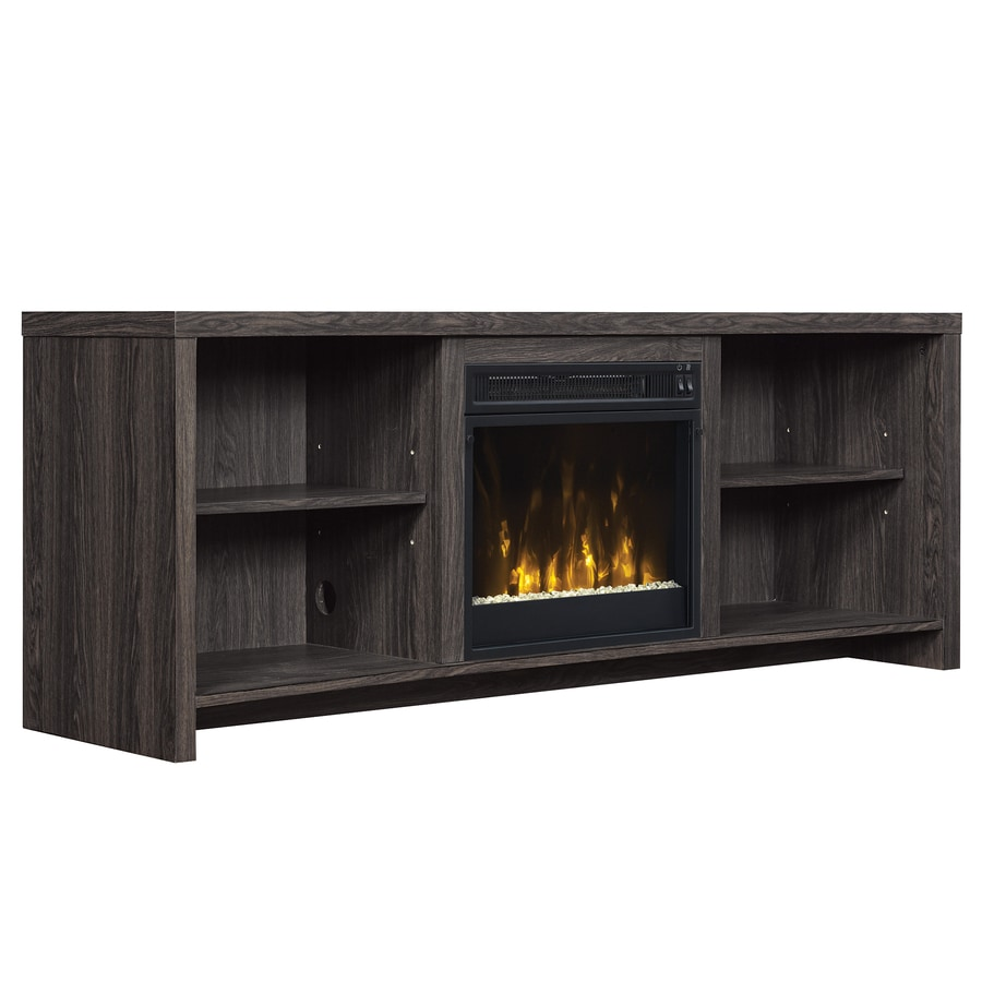 shop classicflame shelter black walnut rectangular