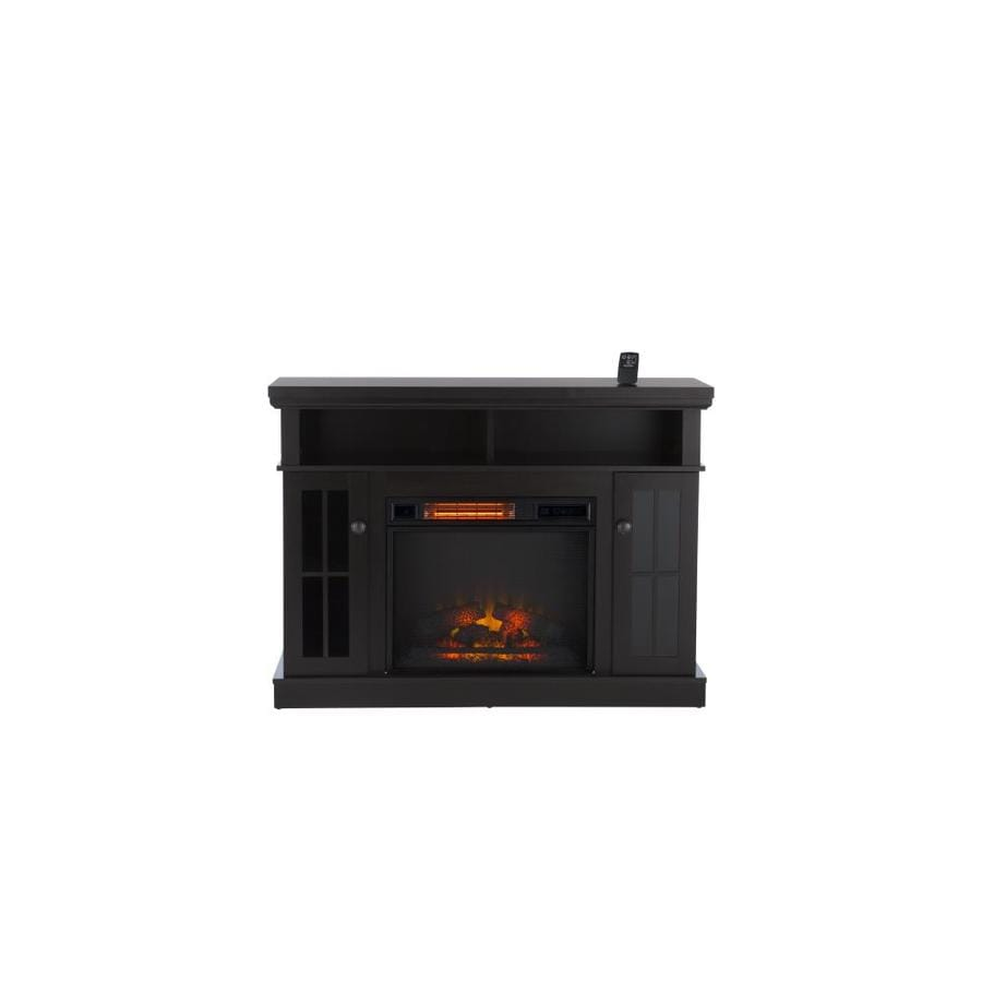 Duraflame 47.75-in W 5200-BTU Espresso Mdf Infrared Quartz Electric Fireplace Media Mantel with Thermostat with Remote Control at Lowe
