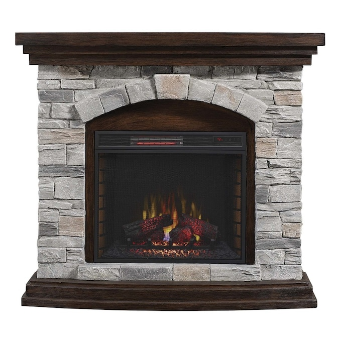 Duraflame 45 In W Brown Grey Infrared Quartz Electric Fireplace In The Electric Fireplaces Department At Lowes Com