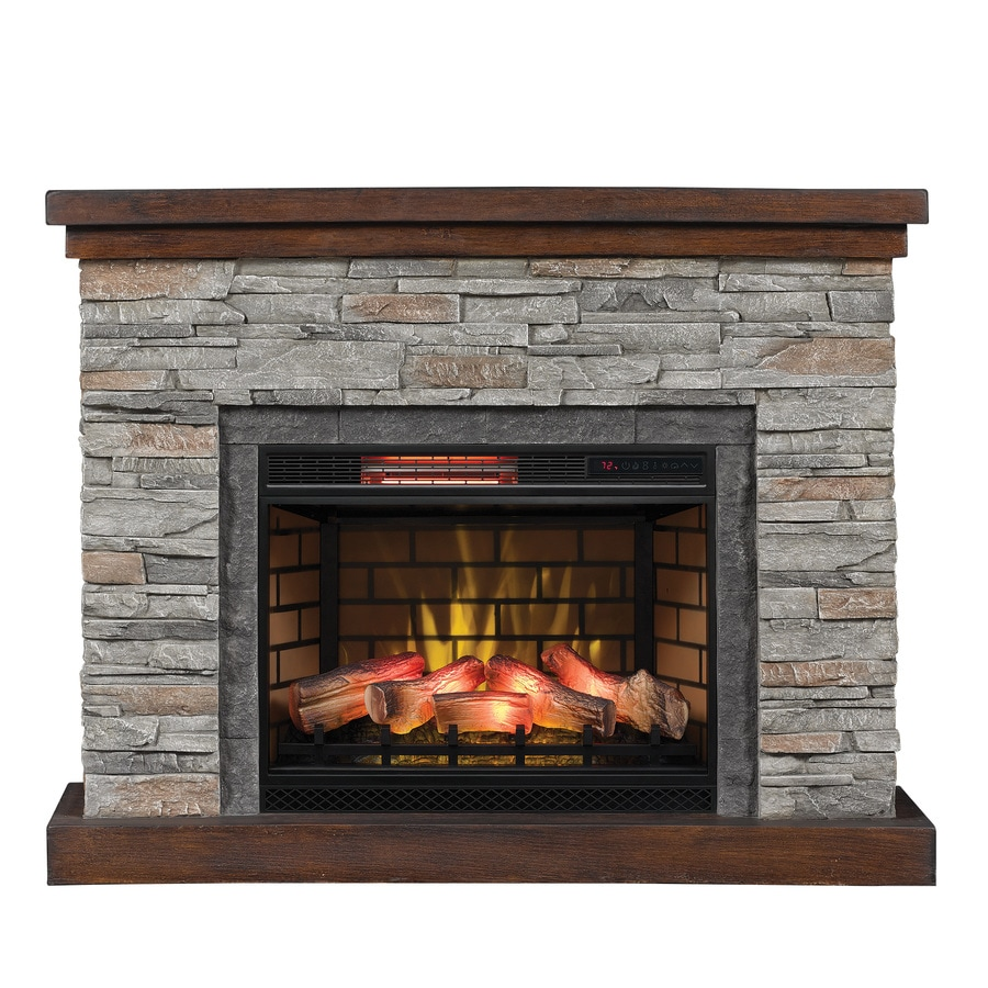 Shop duraflame 54-in w 5200-btu cappuccino brown ash mdf flat wall infrared quartz electric fireplace with thermostat and remote in the electric fireplaces section of Lowes.com