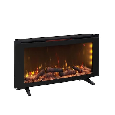 Duraflame 42 In W Black Infrared Quartz Electric Fireplace At