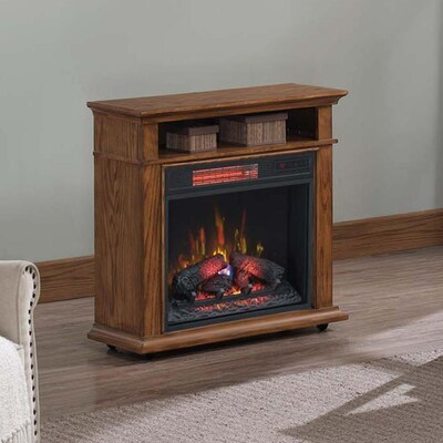Duraflame 31 5 In W Ash Infrared Quartz Electric Fireplace At