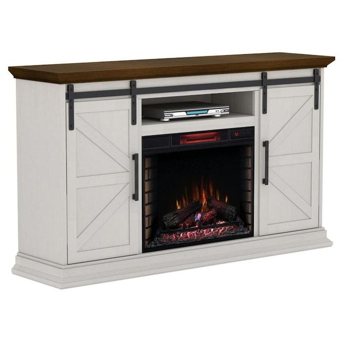 Duraflame 68 25 In W Cream Infrared Quartz Electric Fireplace In The Electric Fireplaces Department At Lowes Com