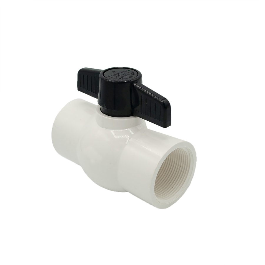 AMERICAN VALVE 1-1/2-in PVC Sch 40 Female In-Line Ball Valve