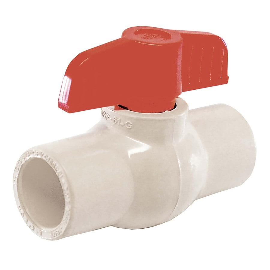 AMERICAN VALVE 1/2-in CPVC Socket In-Line Ball Valve