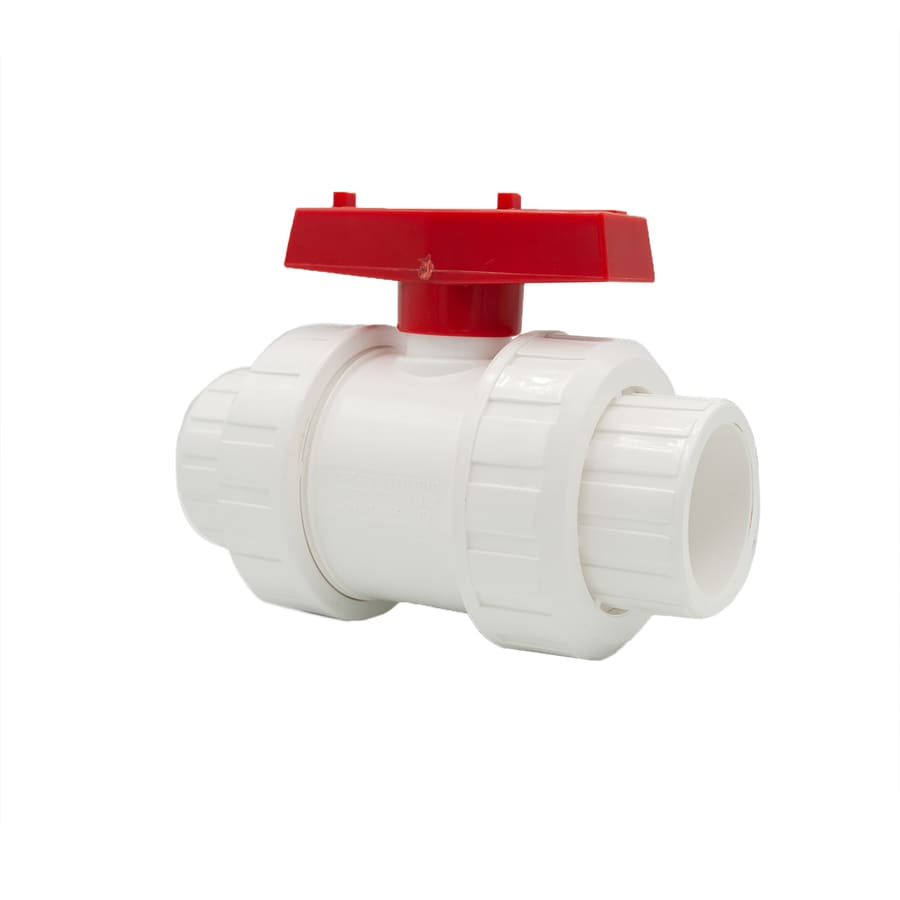 AMERICAN VALVE 1/4-in PVC Sch 40 Socket In-Line Ball Valve with Integral Stop