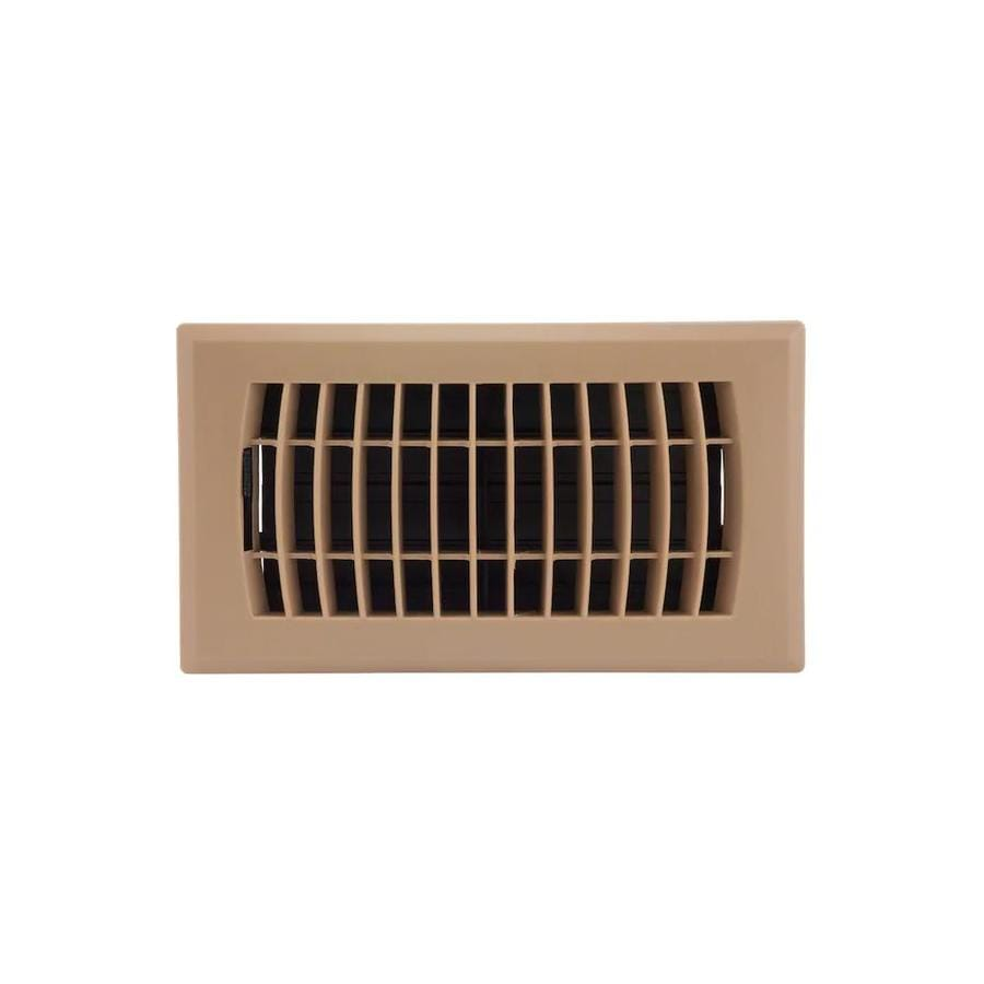 Accord Ventilation Louvered Abs Resin Floor Register (Rough Opening: 8-in x 4-in; Actual: 9.45-in x 5.36-in)