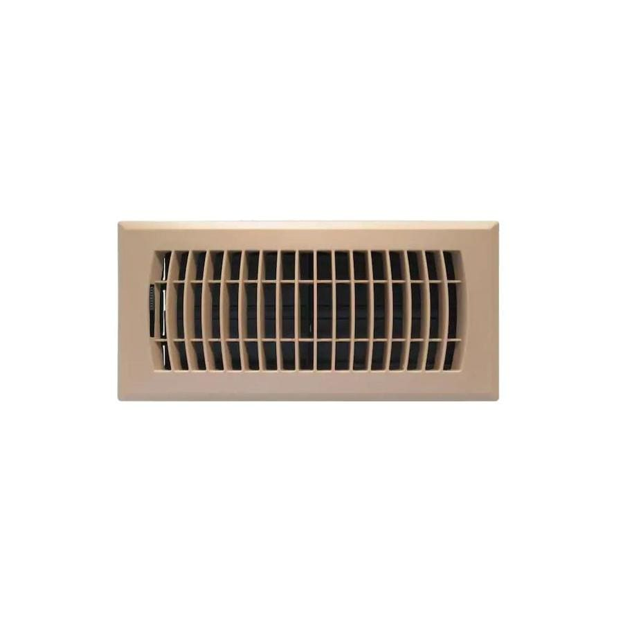 Accord Ventilation Louvered ABS Resin Floor Register (Rough Opening: 10-in x 4-in; Actual: 11.5-in x 5.36-in)