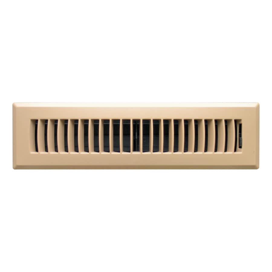 Accord Ventilation Louvered Abs Resin Floor Register (Rough Opening: 12-in x 2-in; Actual: 13.39-in x 3.62-in)