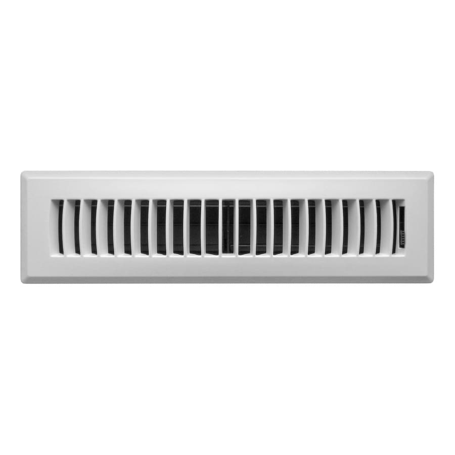 Accord Ventilation Louvered Abs Resin Floor Register (Rough Opening: 12-in x 2-in; Actual: 13.46-in x 3.66-in)
