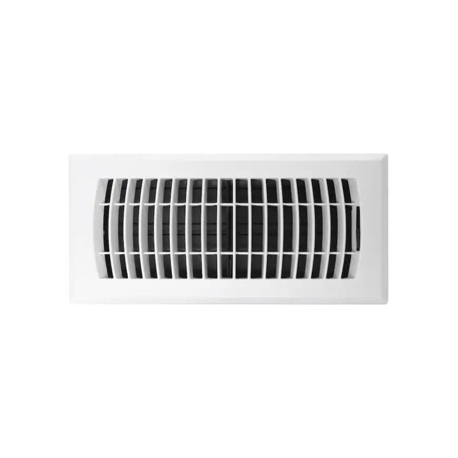 Accord Ventilation Louvered ABS Resin Floor Register (Rough Opening: 12.0-in x 4.0-in; Actual: 13.39-in x 5.36-in)