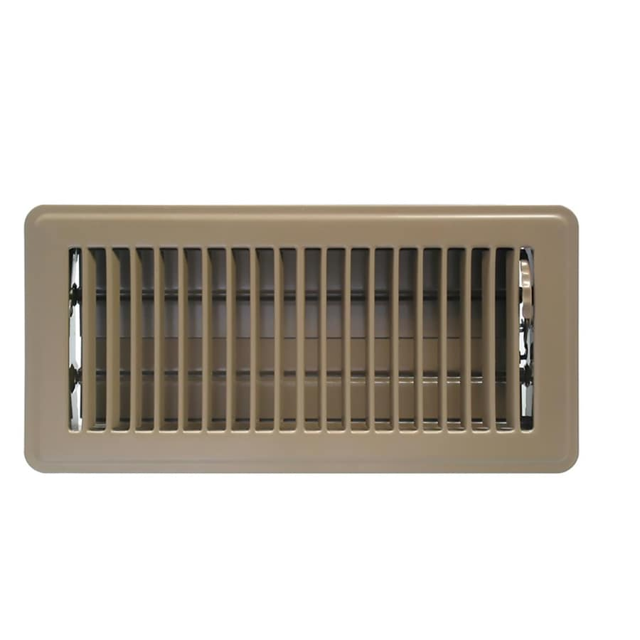 Accord Ventilation Brown Steel Floor Register Duct Opening 4 In X 10