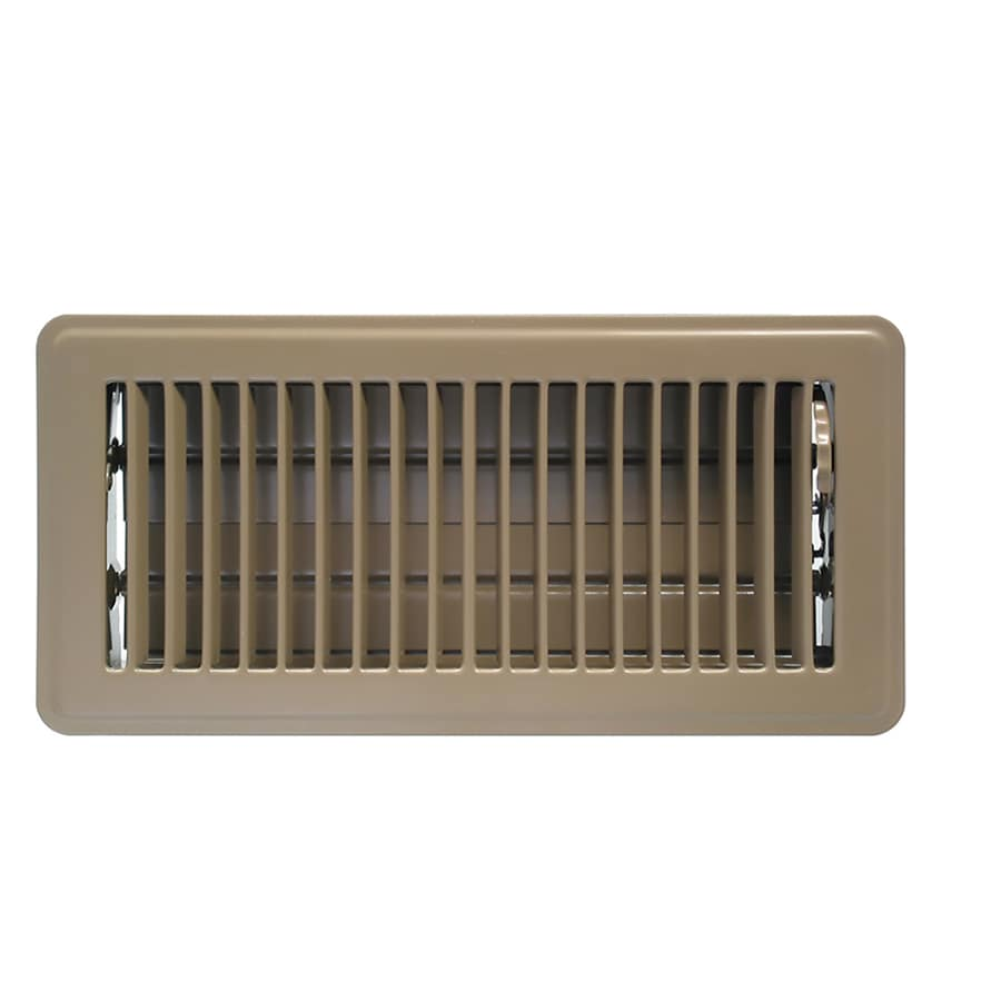 Accord Ventilation 101 Series Painted Steel Floor Register (Rough Opening: 12.0-in x 4.0-in; Actual: 13.52-in x 5.51-in)