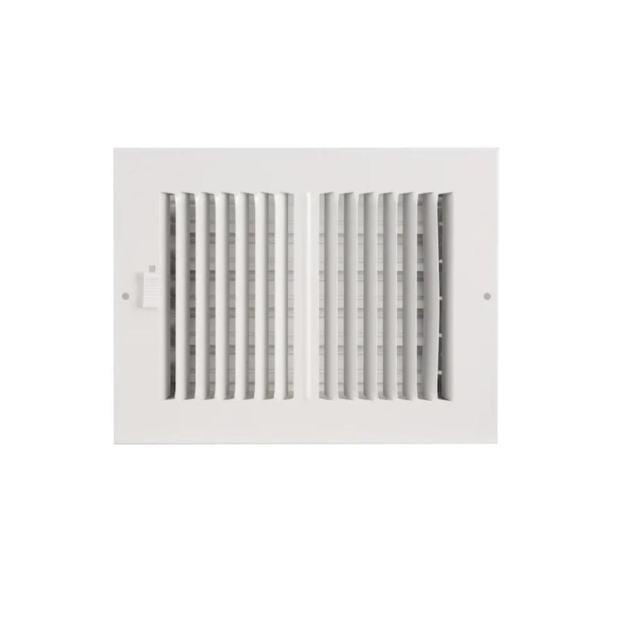 Accord Ventilation 202 Series White Steel Sidewall/Ceiling Register (Rough Opening: 4-in x 14-in; Actual: 15.77-in x 5.74-in)