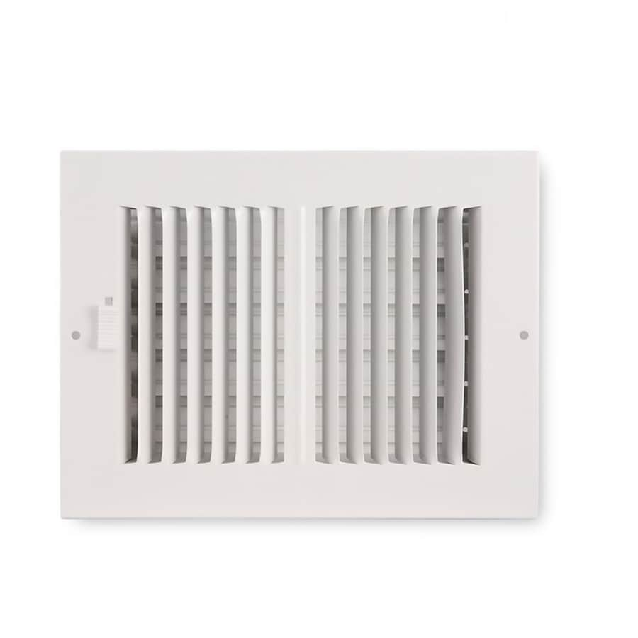 Accord Ventilation 202 Series Painted Steel Sidewall/Ceiling Register (Rough Opening: 6.0-in x 10.0-in; Actual: 7.76-in x 11.73-in)