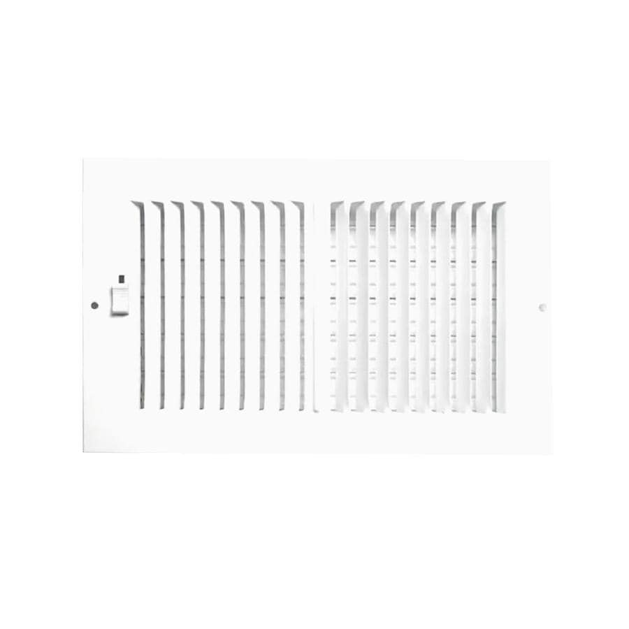 Accord Ventilation 230 Series White Aluminum Sidewall/Ceiling Register (Rough Opening: 6-in x 12-in; Actual: 13.78-in x 7.76-in)
