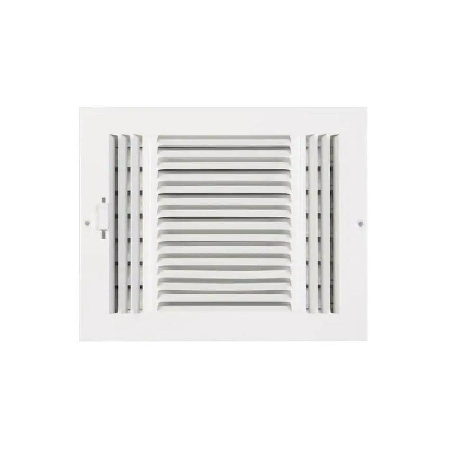 Accord Ventilation 203 Series Painted Steel Sidewall/Ceiling Register (Rough Opening: 4.0-in x 8.0-in; Actual: 5.79-in x 9.92-in)
