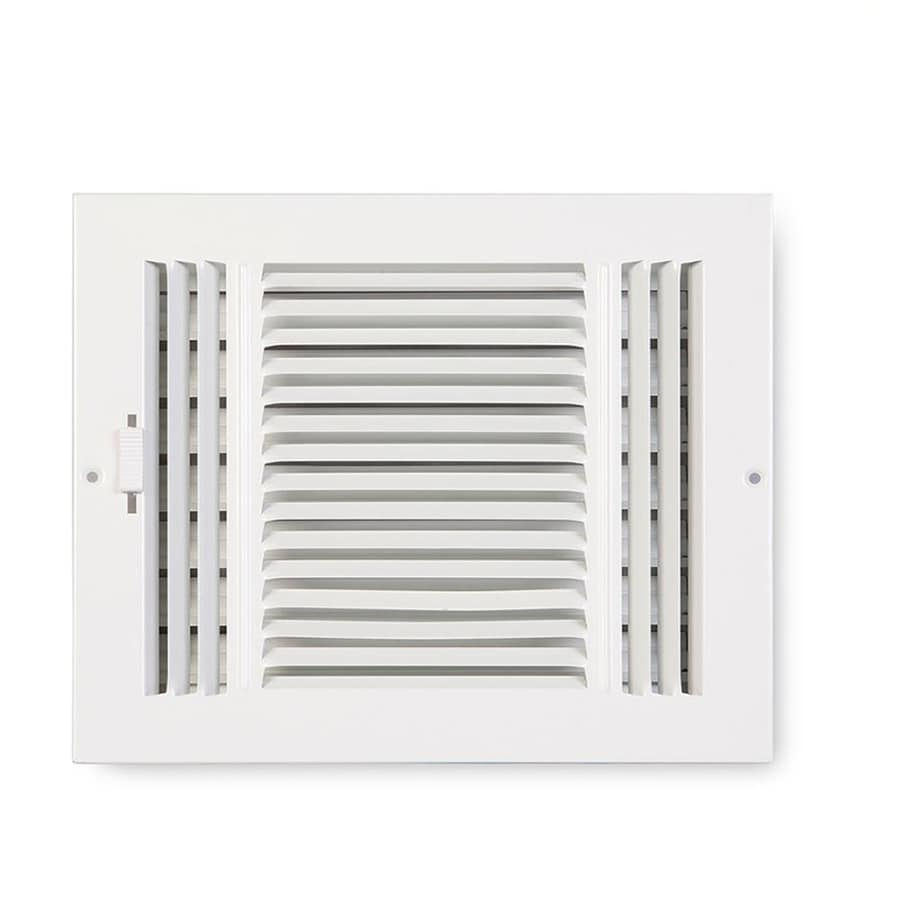 Accord Ventilation 203 Painted Steel Sidewall/Ceiling Register (Rough Opening: 4-in x 10-in; Actual: 5.71-in x 11.78-in)