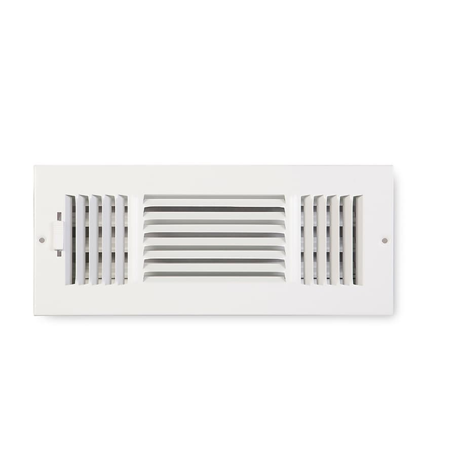 Accord Ventilation 203 Series Painted Steel Sidewall/Ceiling Register (Rough Opening: 6.0-in x 12.0-in; Actual: 7.76-in x 13.78-in)