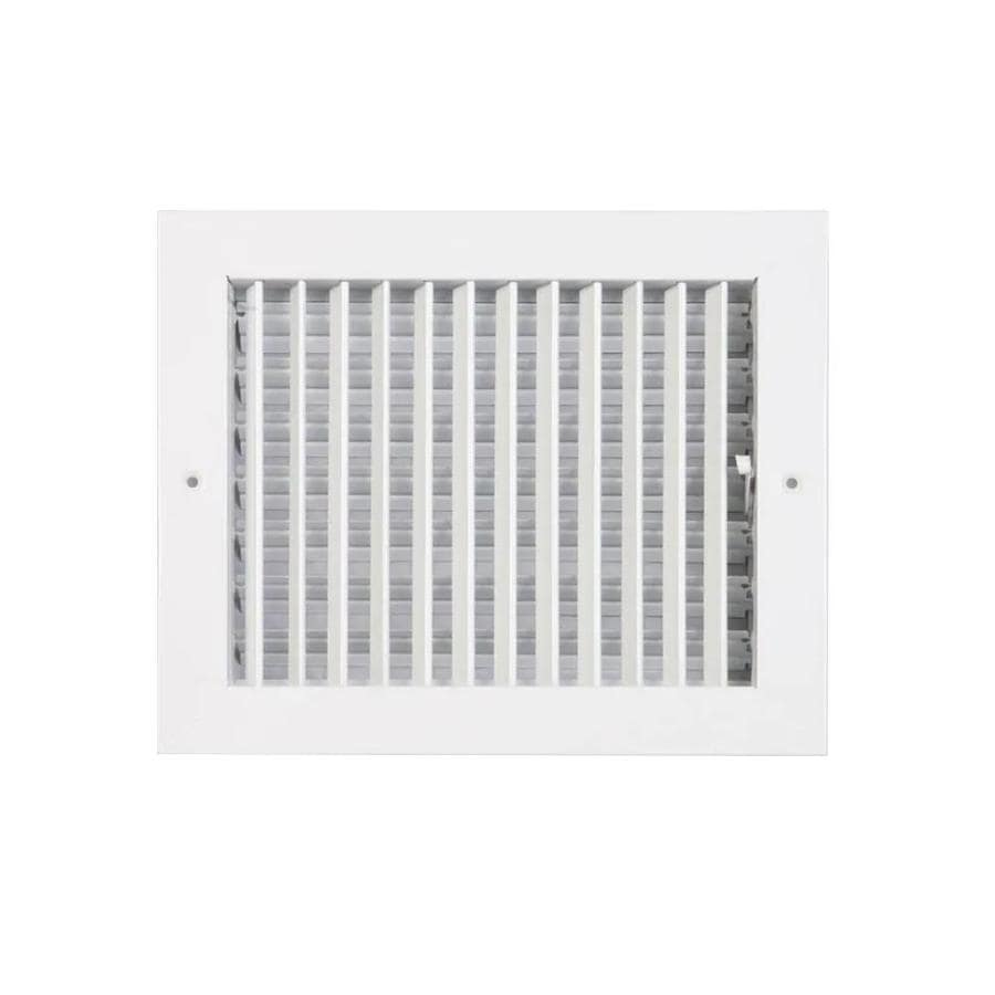 Accord Ventilation 260 Series Painted Steel Sidewall/Ceiling Register (Rough Opening: 6.0-in x 10.0-in; Actual: 7.76-in x 11.78-in)