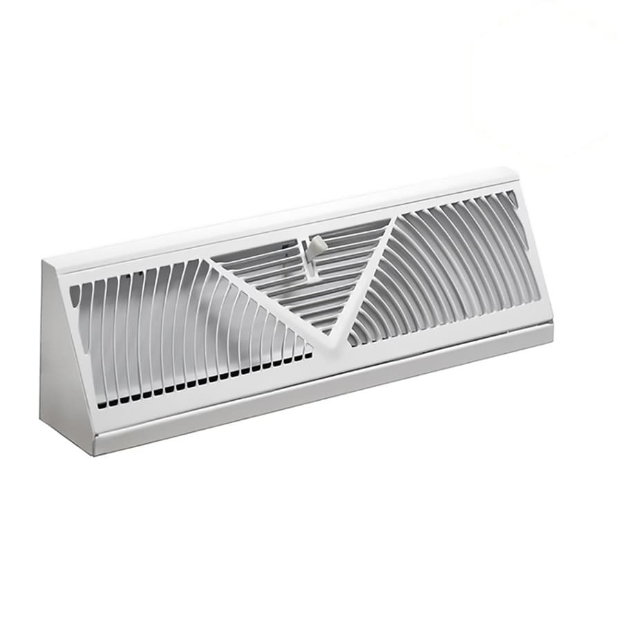 Accord Ventilation 150 White Steel Baseboard Diffuser (Rough Opening: 15-in x 2.5-in; Actual: 18-in x 2.75-in)