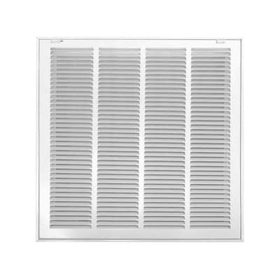 Accord White Steel Louvered Sidewall/Ceiling Grilles (Rough