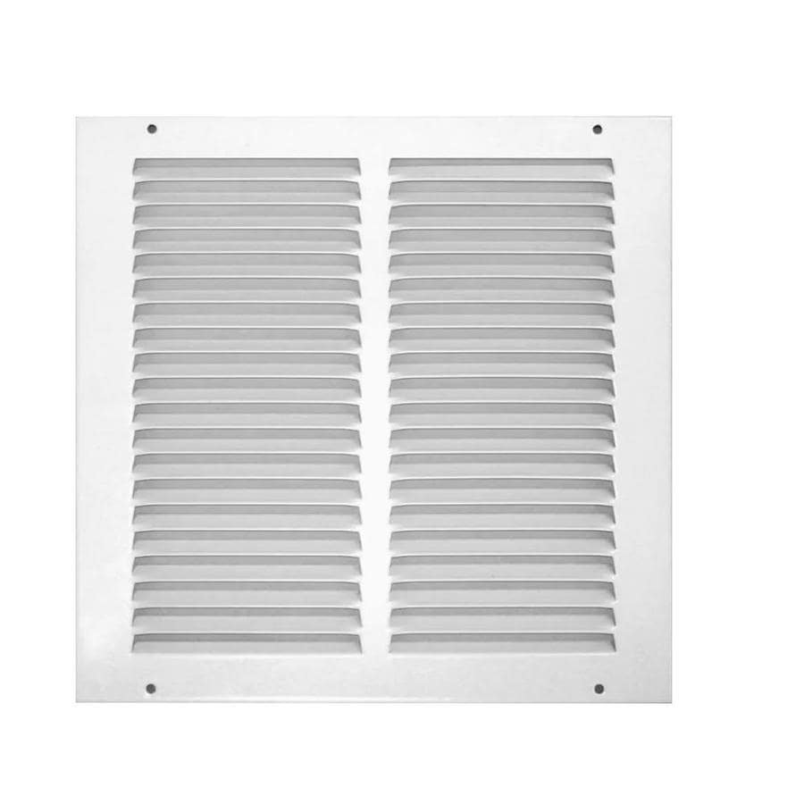 Accord 500 Series White Steel Louvered Sidewall/Ceiling Grilles (Rough Opening: 16-in x 16-in; Actual: 17.86-in x 17.86-in)
