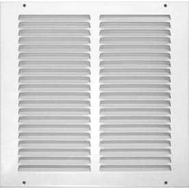 7c7c2478dd3 Accord Ventilation White Steel Louvered Sidewall Ceiling Grilles (Rough  Opening  20-in