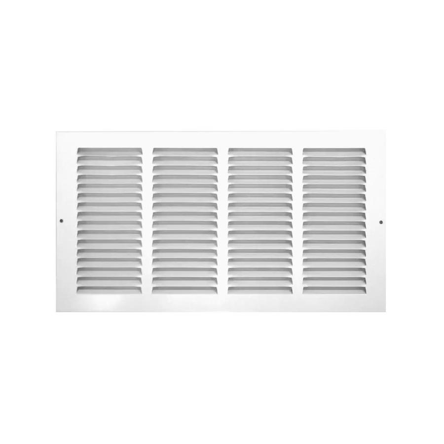 Accord 500 Series White Steel Louvered Sidewall/Ceiling Grilles (Rough Opening: 24-in x 8-in; Actual: 25.82-in x 9.72-in)