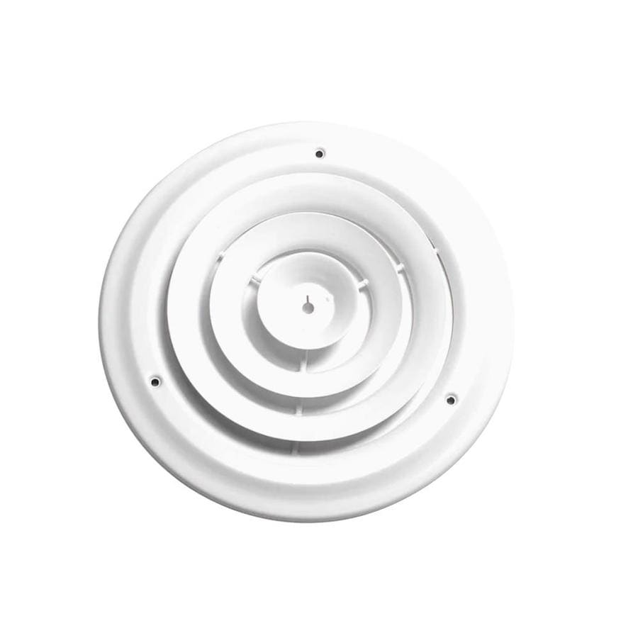 Accord Ventilation 300 Series White Steel Ceiling Diffuser (Rough Opening: 6-in x 6-in; Actual: 8.66-in x 8.66-in)