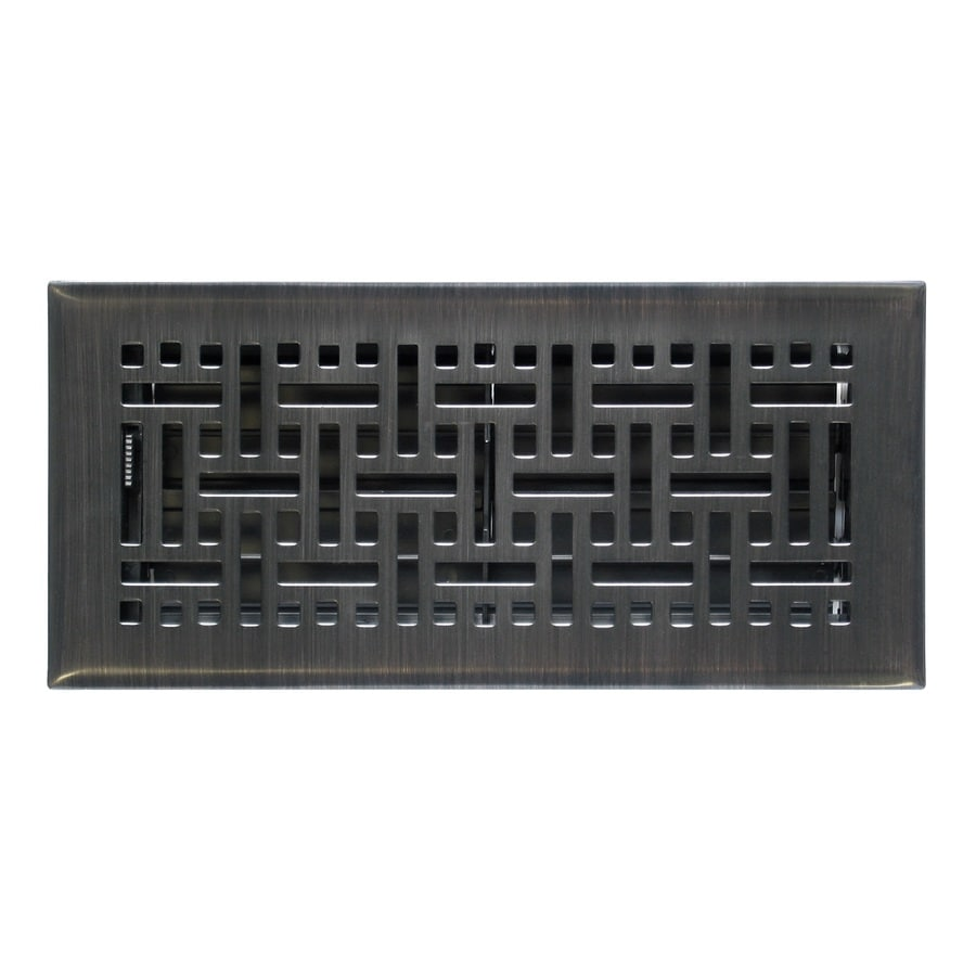 Accord Select Wicker Oil-Rubbed Bronze Steel Floor Register (Rough Opening: 10.0-in x 4.0-in; Actual: 11.38-in x 5.36-in)
