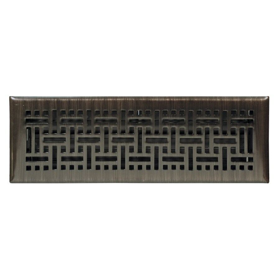 Accord Select Wicker Oil-Rubbed Bronze Steel Floor Register (Rough Opening: 12-in x 4-in; Actual: 13.39-in x 5.36-in)