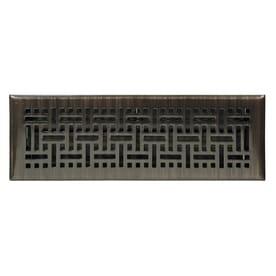 Accord Select Wicker Oil Rubbed Bronze Steel Floor Register Duct Opening 4