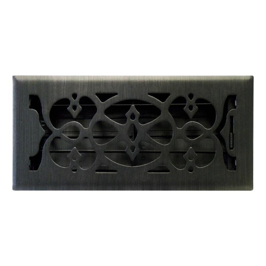 Accord Select Victorian Matte Steel Floor Register (Rough Opening: 10-in x 4-in; Actual: 11.42-in x 5.39-in)